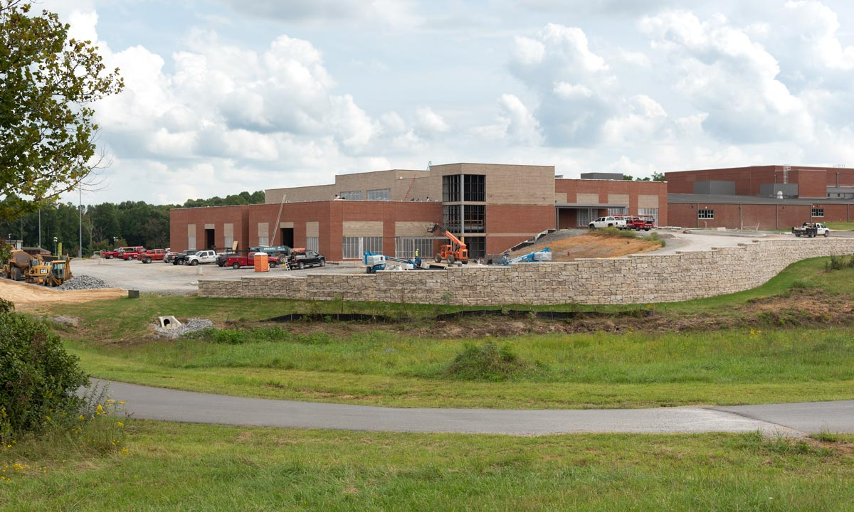 workforce college construction progress September 2020