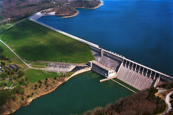 Wolf Creek Dam on Lake Cumberland