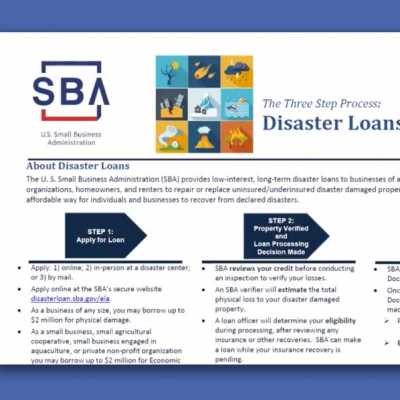 Small Business Administration Disaster Loans Guidance
